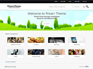 Micro Jobs Pricerr Theme v2 0 4 (Download free) | Tutorials
